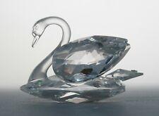 "New ListingSwarovski Crystal Swan Figurine 3"" by 2"" No Box Signed"