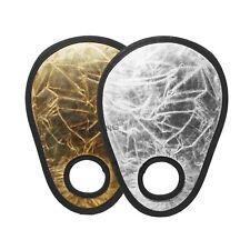 Gold/Silver Portable Folding Handheld Photograph Reflector
