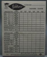 Vintage Yahtzee Score Card Book 1972