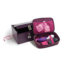 PURPLE MOI BOX DELUXE ADULT TOY STORAGE FITS 3 LARGE TOYS INCLUDES MINI BOX