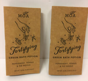 2x MOA Fortifying Green Bath Potion Peppermint 10ml. BRAND NEW. FREE POSTAGE.