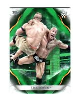 WWE The Rock #70 2019 Topps Undisputed Green Parallel Card SN 24 of 50