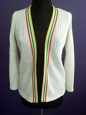 Vintage 1960s Cardigan Sweater Ribbed Knit Kenrose Union Label Mod S/M