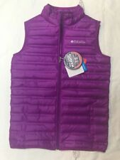 Columbia Youth  Girls Flash Forward Down Puffer Vest Sz Large Berry Purple NWT