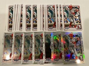 (33) WERNER BLAKELY 2020 BOWMAN DRAFT Paper, Chrome, Refractor Lot Angels