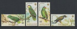 Belize - 1984, Parrots, Birds set - MNH - SG 806/9