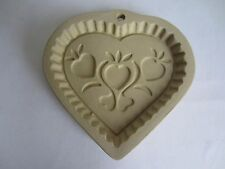 Vintage 1996 Superstone Sassafras Hearts Heart-Shaped Ceramic Cookie Mold Press