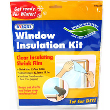 Window Insulation Kit Double Glazing Film Condensation Cold Draught Excluder