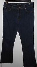 Nine West Woman's Indigo cotton blend stretch Denim Jeans Size 14  Euc