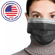 Made in USA 50PCS BLACK Color Face Mask Mouth & Nose Protector Respirator Masks