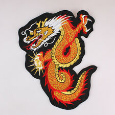 "Dragon Mythological Animal Embroidered Patch Iron On 7.4"" x 9.4"" 19Cm x 24Cm"