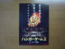 The Hunger Games: Catching Fire MOVIE FLYER  mini poster chirashi Japanese