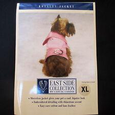 CASUAL CANINE Royalty Dog Jacket/Coat Princess XL Extra Large Pink Denim Twill