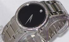 New Men's Movado authentic Stiri 0606191 0.80ct.aprx.custom set Diamond watch