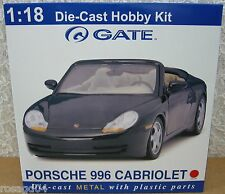 Gate Porsche 996 Cabriolet/Convertible Red Car Model Kit Die-Cast 1:18 Scale NEW