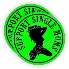 SUPPORT SINGLE MOMS Hard Hat Stickers Motorcycle Welding Helmet Decals Funny usa