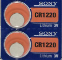 CR 1220 SONY LITHIUM BATTERIES (2 piece) 3V Watch New Authorized Seller Exp:2028