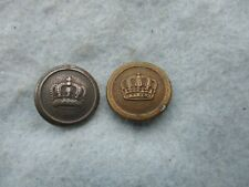 Wwi Imperial German Button Lot Gold and Silver with Crown Ww1
