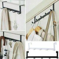 Over The Door Hanger Hook Rack Coat Clothes Hat Towel 5 -Hook Organizer Holder.