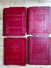 Miniature Books Lot (4) Classics Red Little Leather Library 1920s Thoreau + #15