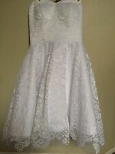 White Lace Homecoming or Cocktail Dress, Size 6 Strapless. Never Been Worn