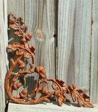ACORN BRACKETS -  Set of TWO Iron Cast Wrought Garden Fence Gate