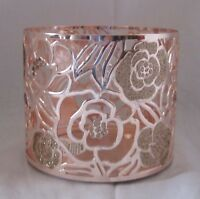 Bath and & Body Works Candle Sleeve for 3-Wick 14.5 oz Candle ROSE GOLD ROSES