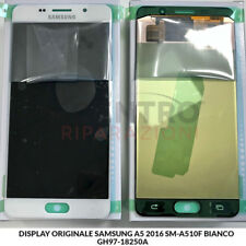 DISPLAY LCD TOUCH SCREEN ORIGINALE SAMSUNG GALAXY A5 2016 SM-A510F BIANCO WHITE