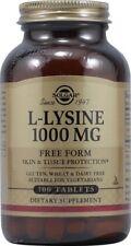 L-Lysine 1000mg Solgar 100 Tabs