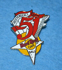 HARD ROCK CAFE 1996 Bali Red and White Banner Independence Pin # 642