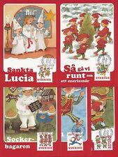 Sweden 2000 FDC - Maxi Card no 163 - 167 - 5 Cards - Christmas Songs