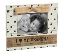 """ I LOVE MY GRANDMA "" Shabby Chic Style - Wooden Photo Frame"