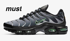 "Nike Air Max Plus""Black/Particle Grey/Vapour Green "" Men's Trainers All Sizes"