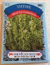 """Vegetable Seeds Gardening Planting """" Thyme� Herb American Seeds"""