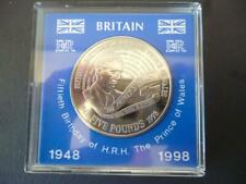 More details for 1998 £5 coin cased the 50th birthday of prince charles brilliant uncirculated