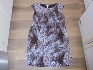 Dressbarn stylish brown & gray animal print sundress size 20