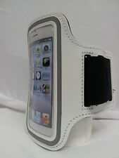 WHITE Armband Case Jogging Running Apple iPhone 4 4S 4G Holder Cover with Strap