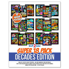 Super Pack of 18 Fuzzy Velvet 8x10 Inch Posters (Decades Edition)
