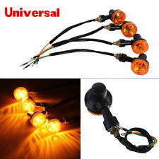 4Pcs Amber Round Motorcycle Bike Turn Signal Direction Indicator Light Lamp 12V