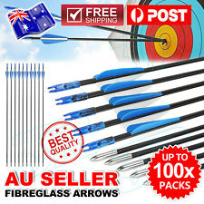 "10 x 31"" Fiberglass Arrows Archery Hunting Target Compound Bow Fiber Glass Bows"