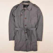 Hugo Boss Herren Mantel Jacke Coat Jacket Gr.52 (M) The Flint Trench Grau 85296