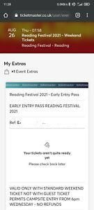 Reading Festival 2021 - Early Bird Only (QR ready)