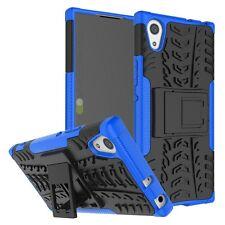 Etui Hybride 2 PIÈCES EXTÉRIEUR BLEU housse étui pour Sony Xperia XA1 étui coque