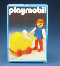 PLAYMOBIL 3357 - Mädchen mit Kinderwagen - Girl with Buggy - Outline Nr. - 1982