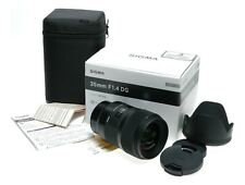 SIGMA ART 35mm F1.4 DG Sony E Mount Boxed Pristine digital camera lens