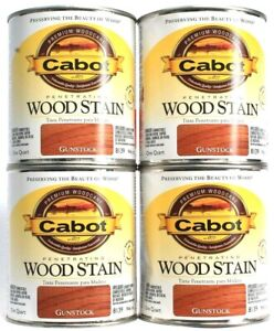 4 Cans Cabot 32 Oz Penetrating Wood Stain 8139 Gunstock Colorfast Fade Resistant