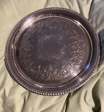 "Webster Wilcox International Silver Co. Silver Plate Tray Brandon Hall 12"""