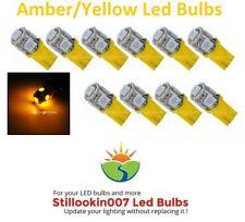 10 - Low Voltage Landscape T5 LED bulbs AMBER YELLOW 5LED's per bulb
