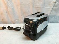 Vintage General Electric GE Chrome & Bakelite 2 Slice Toaster 1940s -Works !