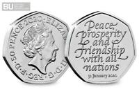 50p Coin 2020 Brexit UK Withdrawal From The EU Brilliant Uncirculated